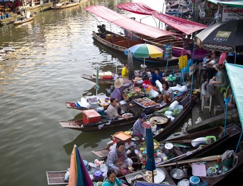 Train market and Amphawa floating market